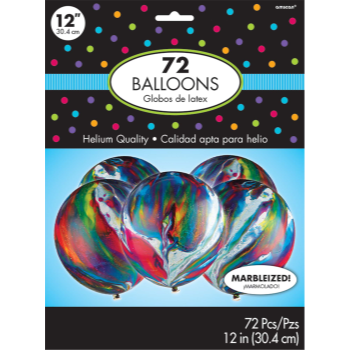 """Picture of 12"""" MARBLE LATEX BALLOONS 72/PKG"""