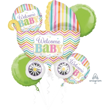 Image de WELCOME BABY FOIL BOUQUET