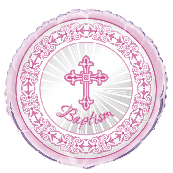 "Picture of 18"" FOIL - PINK RADIANT CROSS"