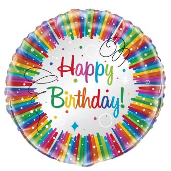 "Image de 18"" FOIL - RAINBOW RIBBONS BIRTHDAY"