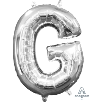 Picture of MINI SHAPE LETTER G  - SILVER (AIR FILLED)