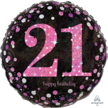 "Picture of 18"" FOIL - PINK CELEBRATION 21st BIRTHDAY"