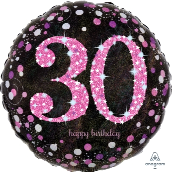 "Picture of 30th - 18"" FOIL - PINK CELEBRATION BIRTHDAY"