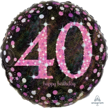 "Picture of 40th - 18"" FOIL - PINK BIRTHDAY CELEBRATION"