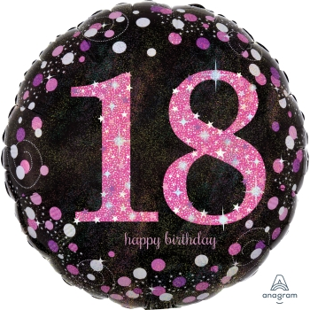 "Picture of 18"" FOIL - PINK CELEBRATION 18TH BIRTHDAY"