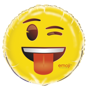 "Picture of 18"" FOIL - EMOJI WINK"