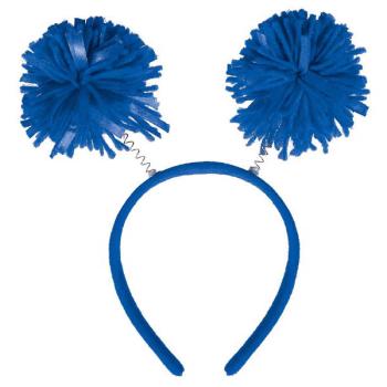 Picture of BLUE POM POM HEADBOPPER
