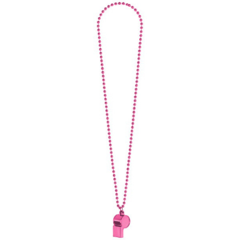 Image de PINK WHISTLE ON BEAD NECKLACE