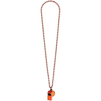 Picture of ORANGE WHISTLE ON BEAD NECKLACE