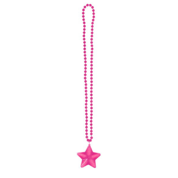 Picture of PINK LIGHT-UP STAR NECKLACE