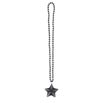 Picture of BLACK LIGHT-UP STAR NECKLACE