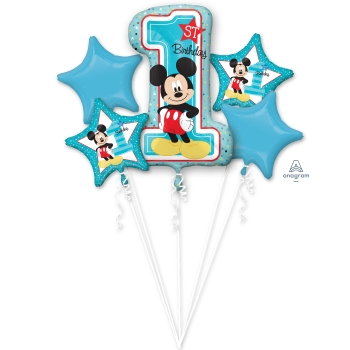 Image de MICKEY'S 1ST BDAY FOIL BALLOON BOUQUET