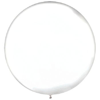 "Picture of 24"" LATEX BALLOONS WHITE 4CT"