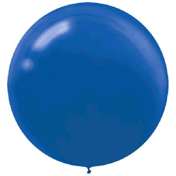 "Picture of 24"" LATEX BALLOONS - BRIGHT BLUE 4CT"