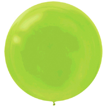 "Picture of 24"" LATEX BALLOONS - KIWI 4CT"