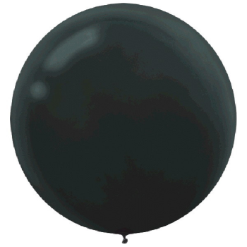 "Picture of 24"" LATEX BALLOONS - BLACK 4CT"