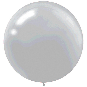 "Picture of 24"" LATEX BALLOONS - SILVER 4CT"