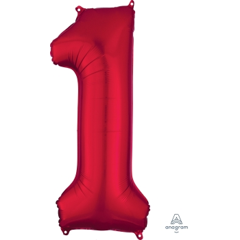 Picture of 34'' NUMBER 1 SUPERSHAPE - RED