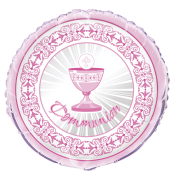 "Image de 18"" FOIL - RADIANT CROSS COMMUNION - PINK"