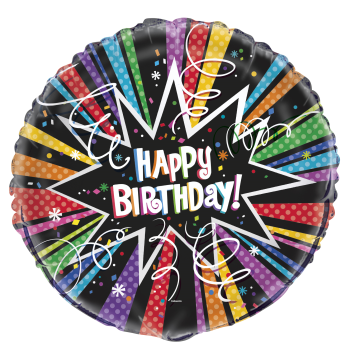 "Image de 18"" FOIL - RAINBOW STARBURST BIRTHDAY"