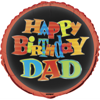 "Picture of 18"" FOIL - HAPPY BIRTHDAY DAD"