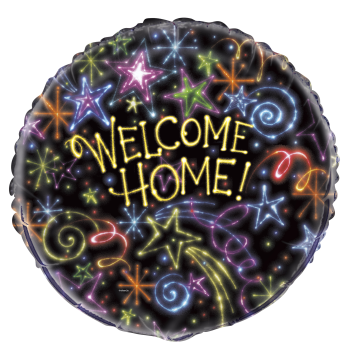 "Picture of 18"" FOIL - NEON STARS WELCOME HOME"