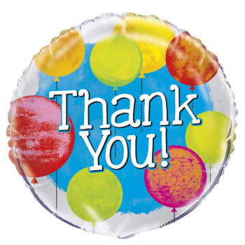 "Picture of 18"" FOIL - BRIGHT THANK YOU"