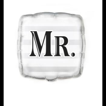 """Image de 18"""" FOIL - SILVER """"MR."""""""