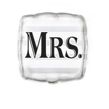 "Picture of 18"" FOIL ""MRS."""