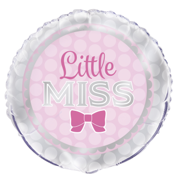 "Image de 18"" FOIL - PINK BOW LITTLE MRS. BABY"