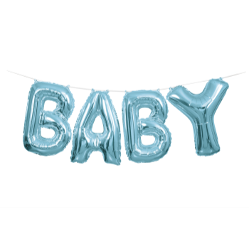 Picture of FOIL BALLOON BANNERS - BABY BLUE