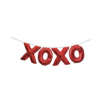 Picture of FOIL BALLOON BANNERS - XOXO RED