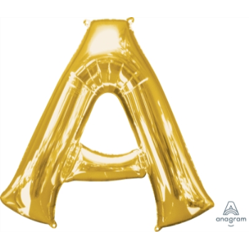 Picture of 34'' LETTER A SUPER SHAPE - GOLD