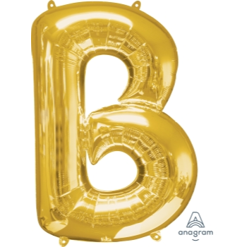 Picture of 34'' LETTER B SUPER SHAPE - GOLD