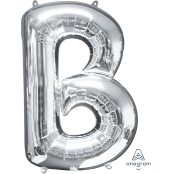 Picture of 34'' LETTER B SUPER SHAPE - SILVER