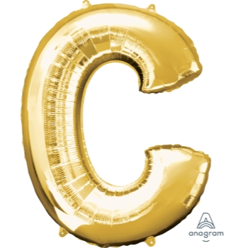 Picture of 34'' LETTER C SUPER SHAPE - GOLD