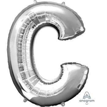Picture of 34'' LETTER C SUPER SHAPE - SILVER
