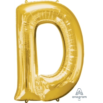 Picture of 34'' LETTER D SUPER SHAPE - GOLD