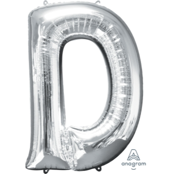 Picture of 34'' LETTER D SUPER SHAPE - SILVER