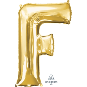Picture of 34'' LETTER F SUPER SHAPE - GOLD