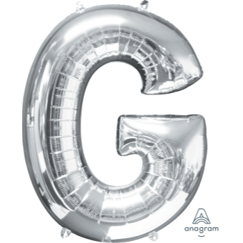 Picture of 34'' LETTER G SUPER SHAPE - SILVER