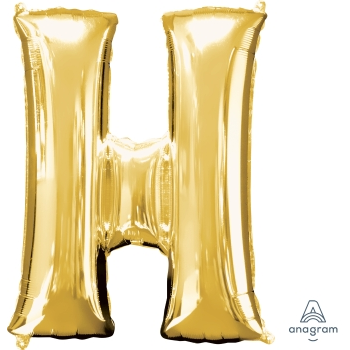 Picture of 34'' LETTER H SUPER SHAPE - GOLD