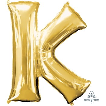 Picture of 34'' LETTER K SUPER SHAPE - GOLD