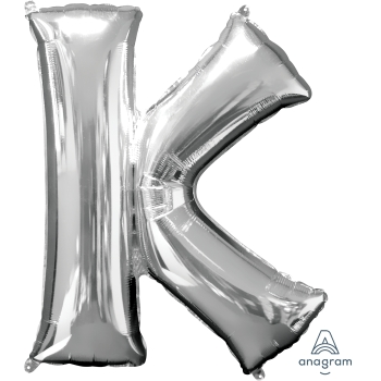 Picture of 34'' LETTER K SUPER SHAPE - SILVER