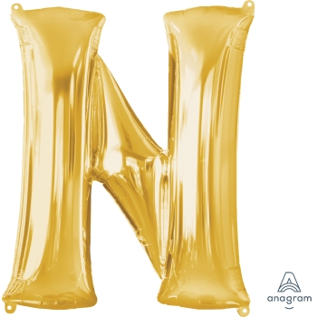 Picture of 34'' LETTER N SUPER SHAPE - GOLD