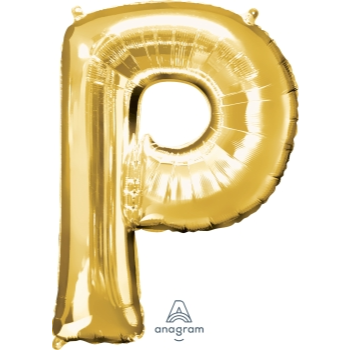 Picture of 34'' LETTER P SUPER SHAPE - GOLD