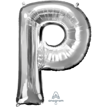 Picture of 34'' LETTER P SUPER SHAPE - SILVER