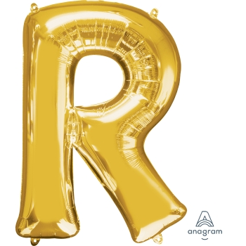 Picture of 34'' LETTER R SUPER SHAPE - GOLD