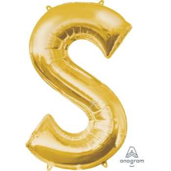 Picture of 34'' LETTER S SUPER SHAPE - GOLD