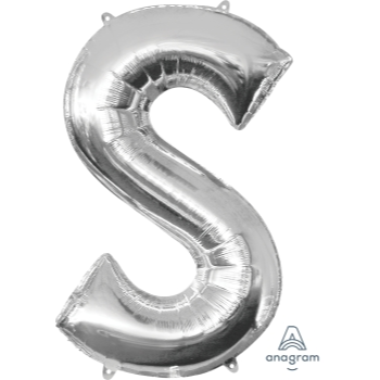 Picture of 34'' LETTER S SUPER SHAPE - SILVER